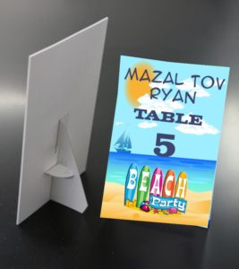 Sign table Mitzvah Mart